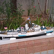 "1:72 British WWII ""Flower Class""  with RC finished model英國揺控艦"