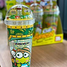 泰國限定Amazon Cafe x Sanrio KeroKeroKeroppi 限量小花園俠管水杯