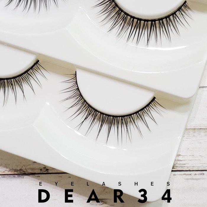 《Dear34》磨尖L-4黑梗眼中長自然根根分明一盒五對價
