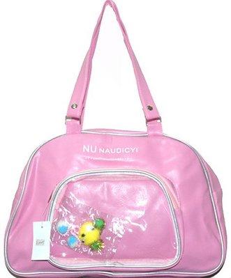 《熊族》P0255 NU NAUDICYI透明前袋保齡球包-粉紅