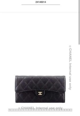 Chanel黑金長夾