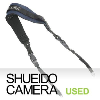 集英堂写真機【全國免運】OP/TECH USA 相機背帶 肩背帶 藍黑 附背帶環 PENTAX 645N 用 22160