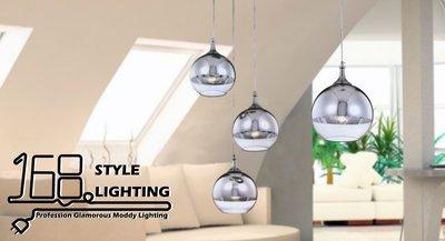 【168 Lighting】下空玻璃《時尚吊燈》(兩款)三燈款GI 71266-1