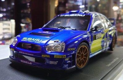 autoart 1/18。Subaru Impreza WRC 2004 日本站。原盒