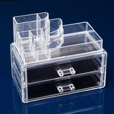 ☆新款中號帶抽屜式桌面收納盒日本收納盒...