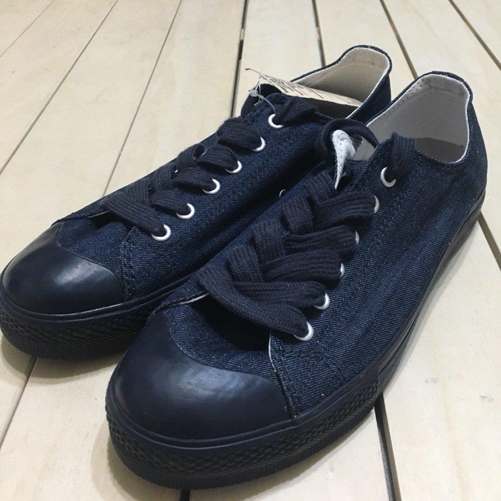 無印良品 MUJI 帆布鞋 撥水加工有機棉 藍色
