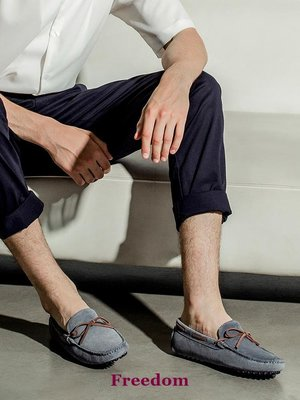 Freedom女鞋【17號的下午】英國Byford男鞋 商務休閒套腳一腳蹬豆豆鞋BF058