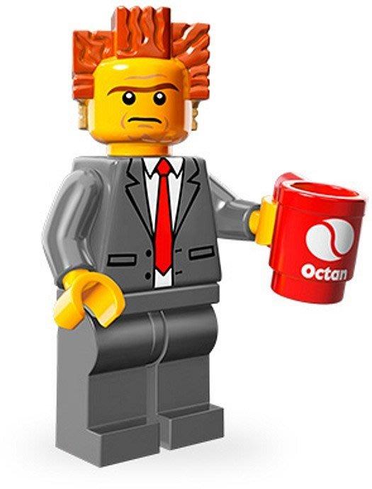 【荳荳小舖】LEGO樂高minifigures人物系列-樂高電影系列-總裁黑心商人#2 含運200下標即售
