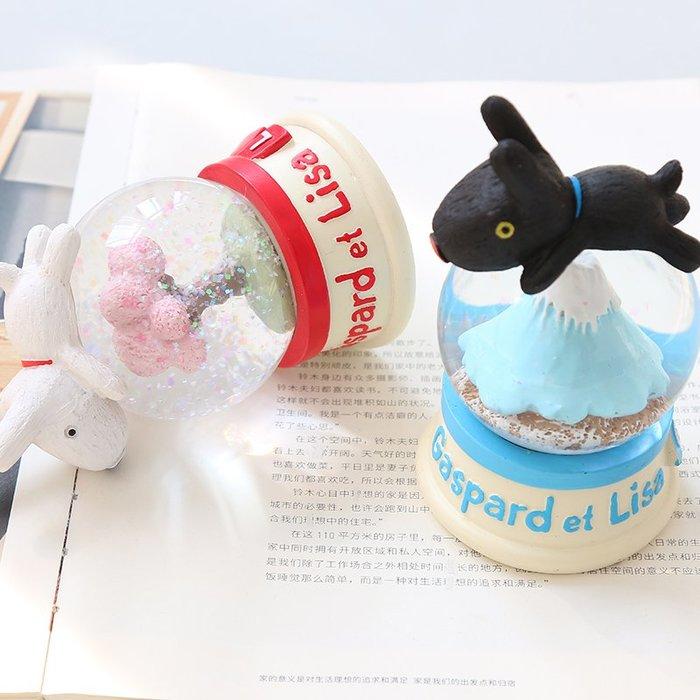 ig 爆款 韓國創意可愛和風雪花水晶球擺件送同學女生兒童生日禮物品圣誕節
