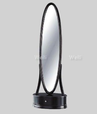 8M【新北蘆洲~偉利傢俱】748穿衣鏡(黑)-編號 (M722-4) 【雙北市免運費】