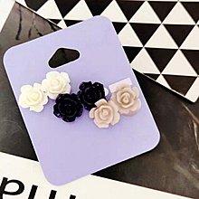 (超值$20 一套3對)新款 歐美 飾品 超 美 簡約 玫瑰花 耳飾 3對 耳環 套裝(滿$60包郵)(郵費$5)