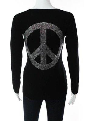 E.VIL 黑色和平水晶Cachemire 毛衣