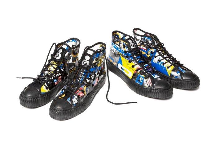 { POISON } PRETTYNICE P.NICE SPORT SNEAKER 獨家滿版圖像透明 經典帆布鞋型