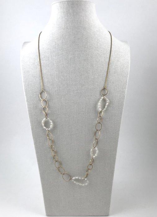 [我是寶琪] 小珍珠串金色項鍊
