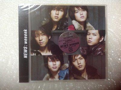 ~拉奇音樂~ NEWS  /  weeeek  初回生產限定盤 日本版 全新未拆封。團。