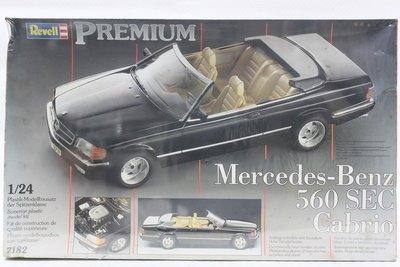【統一模型玩具店】REVELL威望《Mercedes-Benz - 560 SEC Cabrio》1:24 # 7182