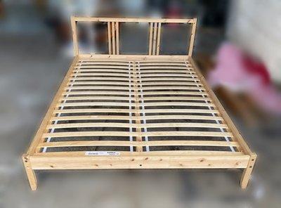 【宏品二手家具館】台中中古傢俱電器賣場 B51018*木色5尺床架 床底 床箱 中古臥室家具 冰箱 洗衣機 沙發茶几新竹