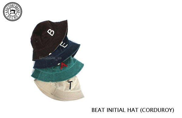 WaShiDa【ANDC-022】DECHO 日本品牌 BEAT INITIAL HAT 復古 燈芯絨 棒球帽 漁夫帽