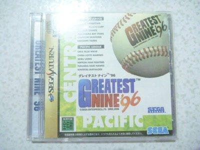 【~嘟嘟電玩屋~】SEGA SATURN 日版光碟 ~ 完全中繼棒球 ' 96 .... 有側標