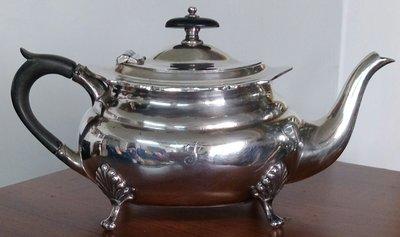 94 高級英國鍍銀壺Antique Footed Silver Plated Teapot