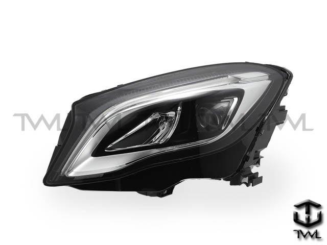 《※台灣之光※》全新BENZ賓士X156 15 16 17 19 18年R8光條LED黑底魚眼投射大燈頭燈組