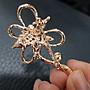 玫瑰金鑽石緞帶造型別針