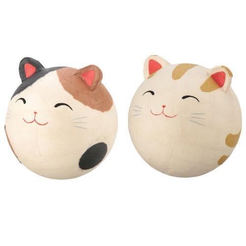 ちぎり和紙 ゆらりん猫(不倒翁丶肚子有鈴響聲)二款單賣