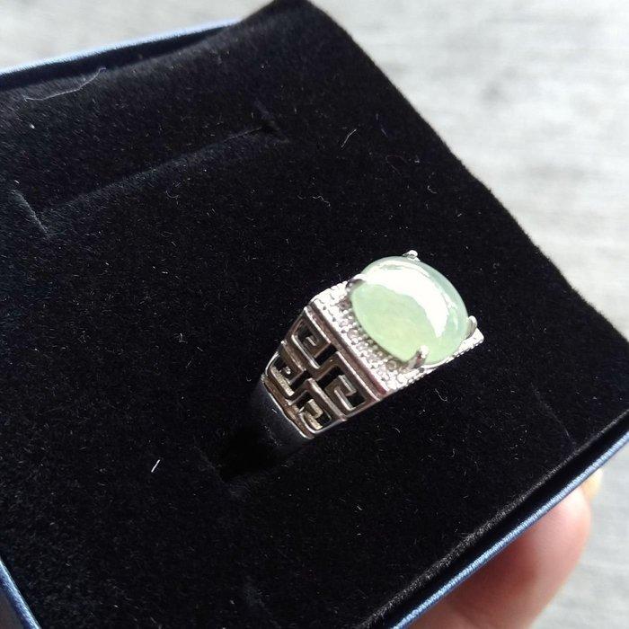 晴水蛋面銀鑲戒指(活動圍)