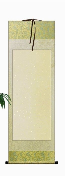 Art in THE【傑儒書畫】空白掛軸 宣紙雙色全綾布掛軸 國畫書法 書畫卷軸畫軸 50cmx158cm
