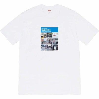 【MOMO嚴選】Sup 20FW Verify Tee 驗證碼 街景九宮格圖片圓領男短袖女T恤情侶