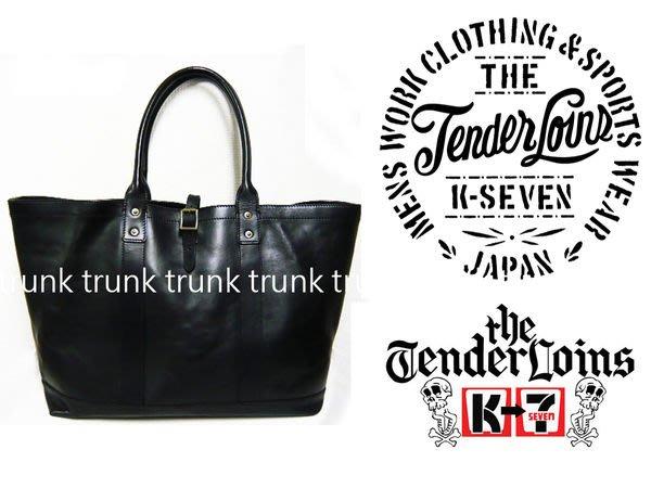 經典大作TENDERLOIN X PORTER LEATHER TOTO BAG 全真牛皮革托特包 L 正品現貨 BLACK