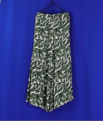 林林總總雜貨~ Prefer 咖啡花紋棉腰鬆緊綁帶寬褲裙&韓國帶回竹葉寛褲裙