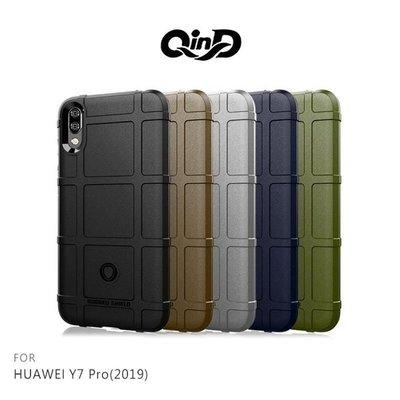 【愛瘋潮】QinD HUAWEI Y7 Pro(2019) 戰術護盾保護套 背殼 TPU套 手機殼 保護殼 鏡頭保護