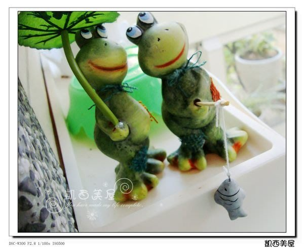凱西美屋 浪漫可愛青蛙情侶 田園情侶 鄉村風