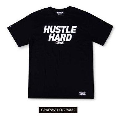 Cover Taiwan 官方直營 GRAF Hustle Hard 美式 嘻哈 高端 街頭 短Tee 黑色 (預購)