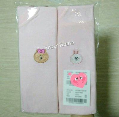 LINE Friends Cony & Choco Tee 熊妹兔兔淺粉紅色T恤 (一套兩件)
