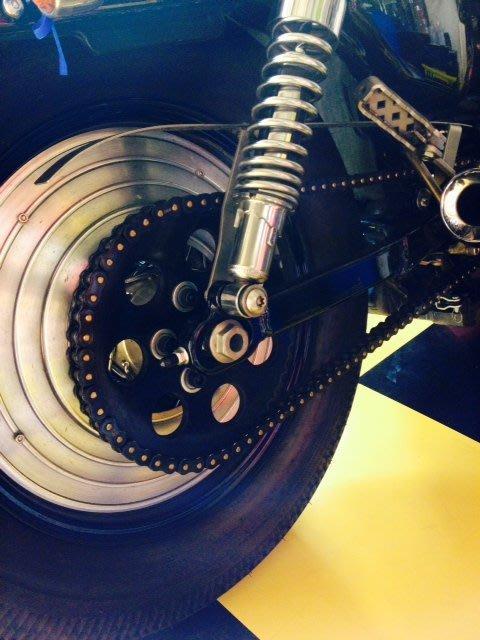 (I LOVE樂多)哈雷SPORTSTER車系專用 皮帶改鍊條專用前後齒盤 48 883