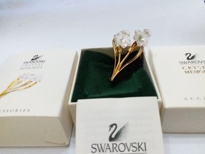 Swarovski Crystal memories Daffodil Brooch MIB COA