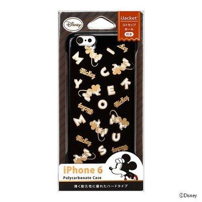 尼德斯Nydus~* 日本正版 迪士尼 米奇 Mickey 米老鼠 硬殼 手機殼 黑款 4.7吋 iPhone6