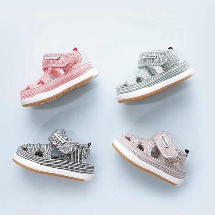 春夏學步鞋女寶寶0-1-2歲防滑涼鞋6-12個月男童嬰幼兒軟底透氣