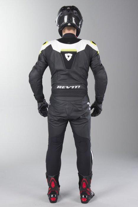 【柏霖動機 台中門市】荷蘭 REVIT  Argon 連身皮衣 FOL031 皮衣 連身  白螢黃色 送賽道體驗!002