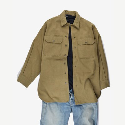 1940s WWII Inspector Army Brown Flannel Shirt 二戰 美軍 公發 襯衫 34