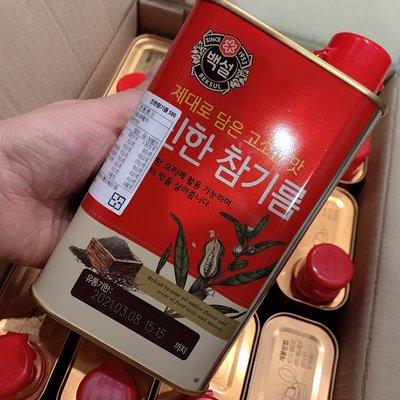韓國CJ芝麻油~韓國麻油500ML~濃...
