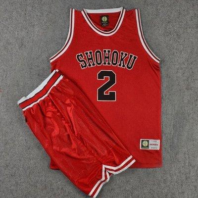 球服籃球套裝男運動服T恤男裝 SD灌籃高手球衣隊服湘北2號井上彩子籃球衣背心籃球服套裝紅色