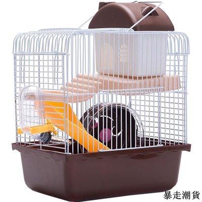 倉鼠籠 寵物籠 外出提籠 倉鼠籠子 小城堡 鼠籠雙鼠 雙層 小用品的超大別墅透明套裝買送新品免運