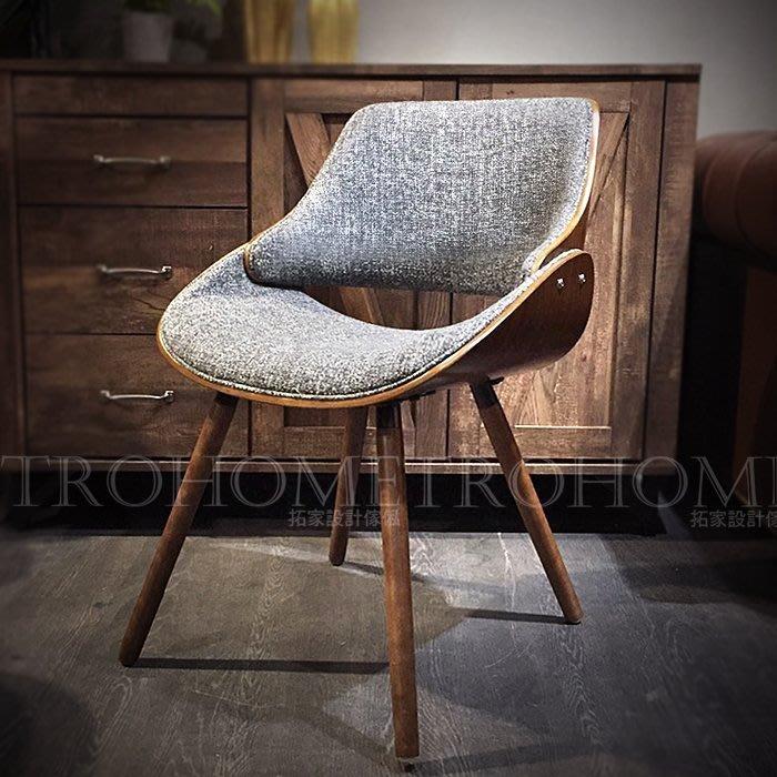 【拓家工業風家具】共兩色-經典丹麥曲木包邊布面餐椅/北歐復刻接待椅美甲椅/美式餐椅電腦椅會客椅會議椅洽談椅工作椅