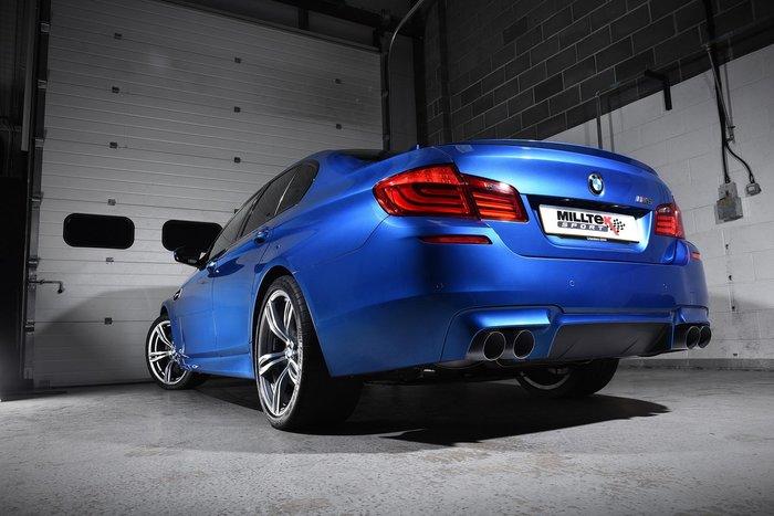 【樂駒】英國 Milltek BMW F10 M5 改裝 中段 尾段 中尾段 排氣管 當派 黑色