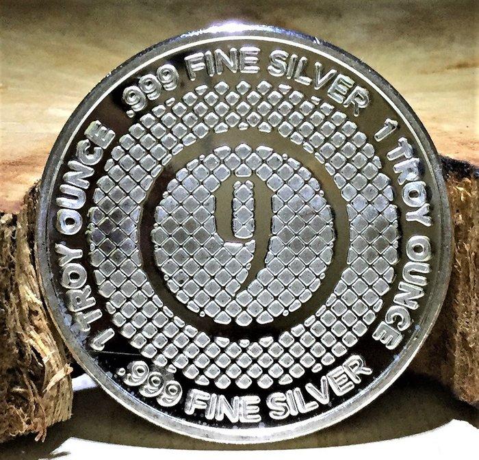 9Fine Mint 品牌 (Diamond Pattern) 菱形圖案銀幣 (1 toz)