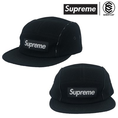 【ScrewCap】Supreme Pique Piping Camp Cap 黑色 五分割 五分帽 五分割帽 鴨舌帽