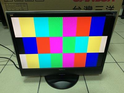新竹二手電腦螢幕  ViewSonic優派 VG2230WM 16:10 22吋液晶螢幕 舊機可回收 另有維修電腦螢幕 新竹市